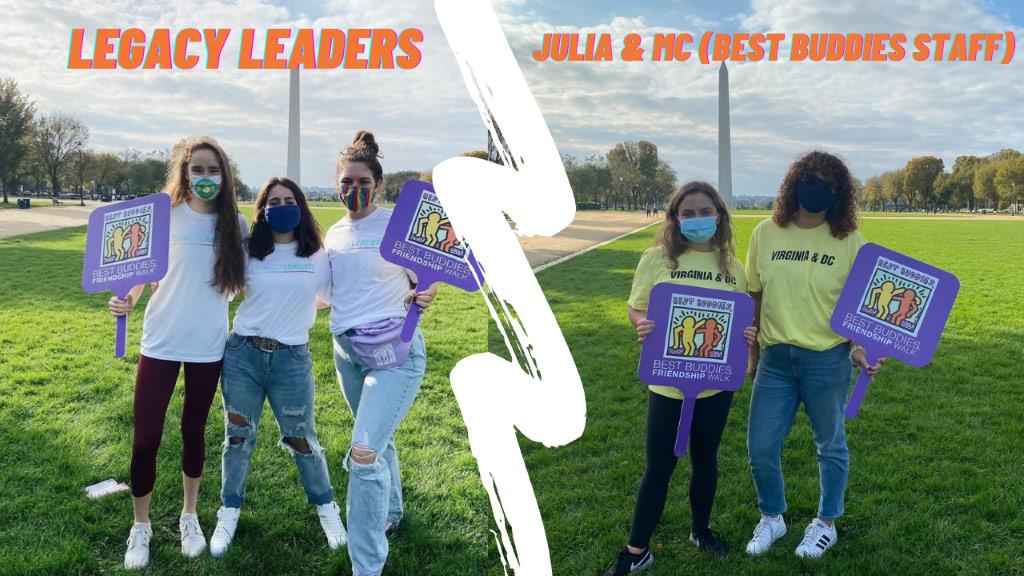 Legacy Leaders and Best Buddies staff Julia & MC